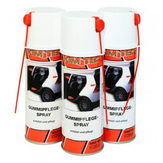 3x Gummipflege Spray Kim Tec  400ml