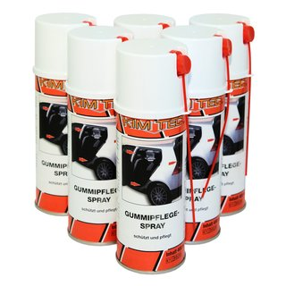 6x Gummipflege Spray Kim Tec  400ml