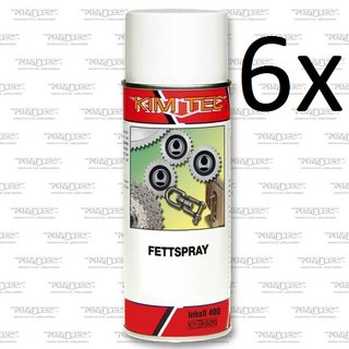 6x400 ml Fettspray Hellbraun